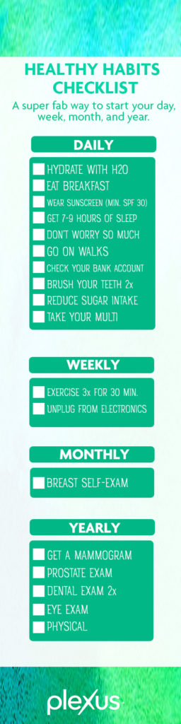healthy habits on the daily monthly and all year long